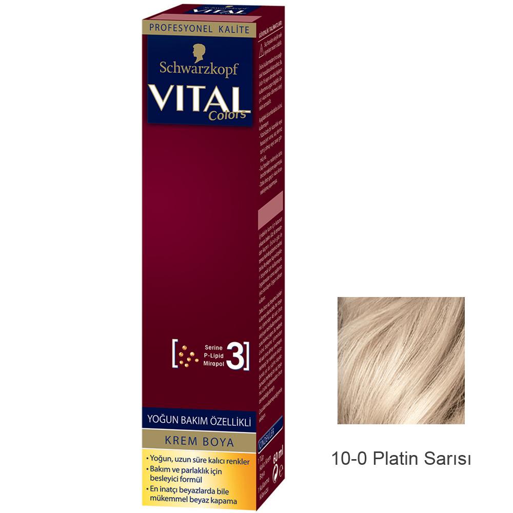 Schwarzkopf Vital Colors Krem Saç Boyası 10 0 Platin Sarısı