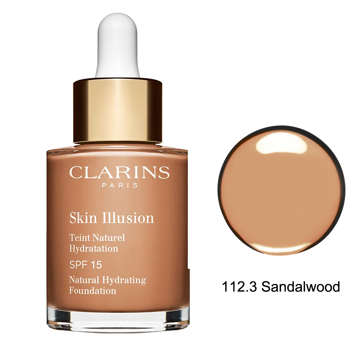 Clarins Skin Illusion Natural Hydrating Fondöten SPF15 112.3 Sandalwood