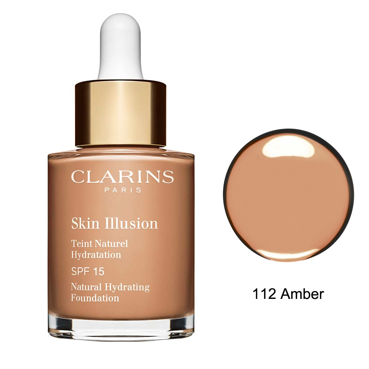 Clarins Skin Illusion Natural Hydrating Fondöten SPF15 112 Amber