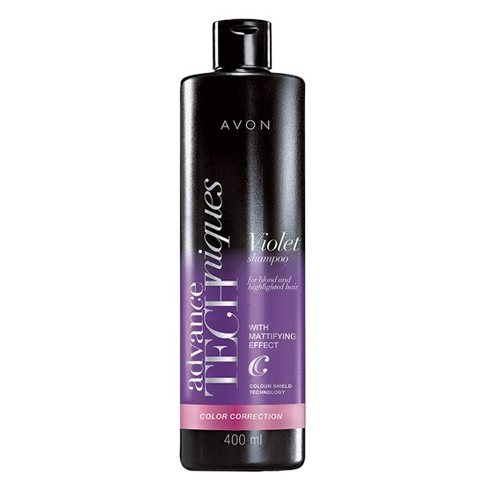 AVON Advance Techniques Colour Correction Sarı ve Gölgeli Saçlar İçin Şampuan 400 ml