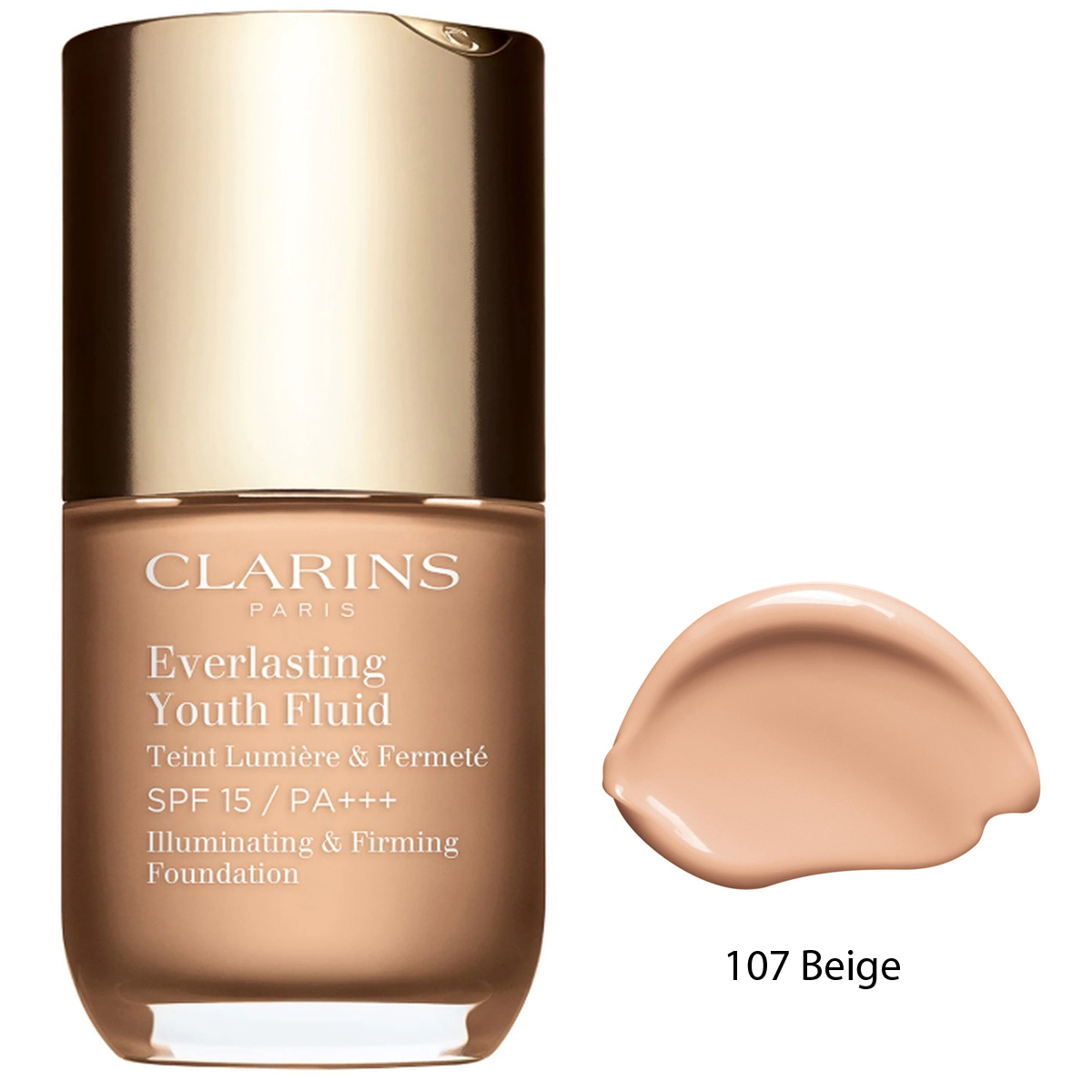 Clarins Everlasting Youth Fluid Fondöten SPF15 30 ml 107 Beige